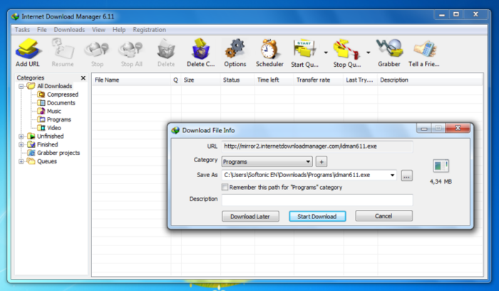 Screenshot 2 of Internet Download Manager