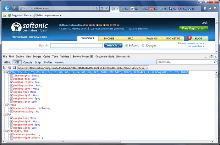Screenshot 3 of Internet Explorer