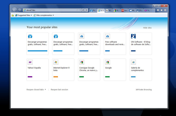 Screenshot 4 of Internet Explorer