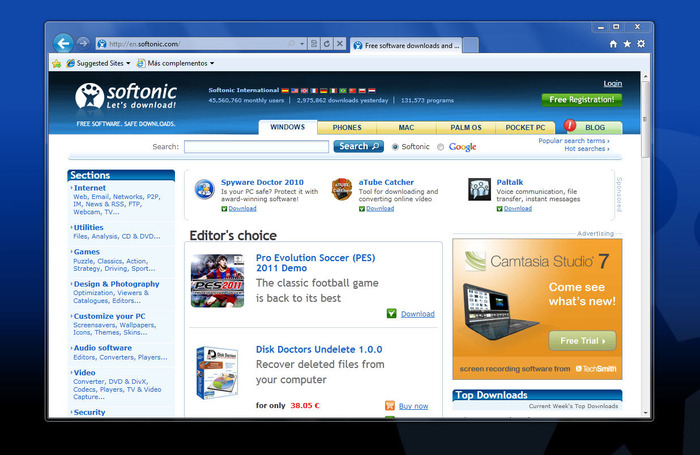 Screenshot 7 of Internet Explorer