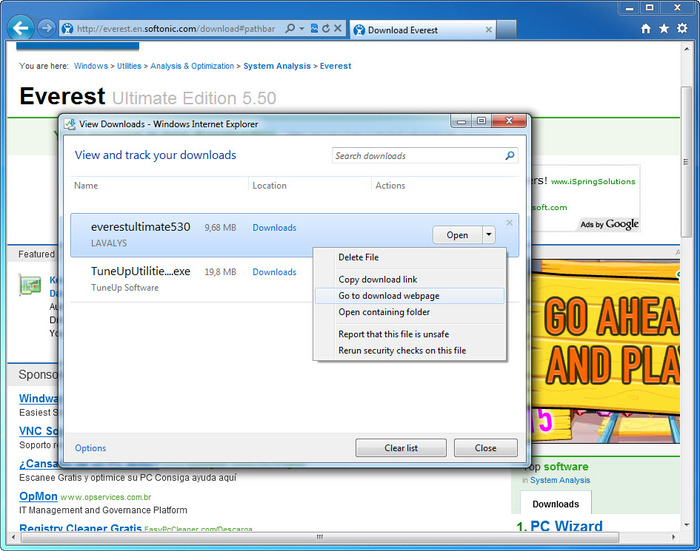 Download internet explorer 8 (ie8) rtw for vista sp1 and xp sp3.