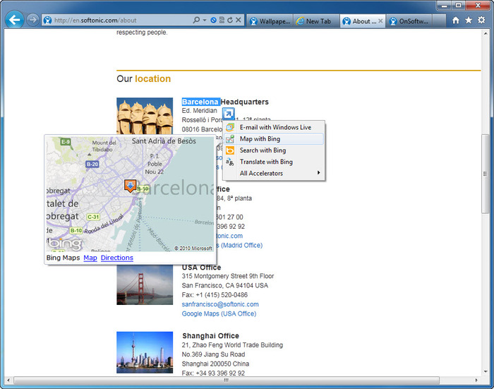 Screenshot 1 of Internet Explorer 9