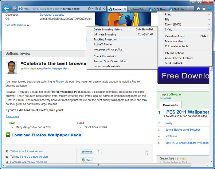 Screenshot 2 of Internet Explorer 9