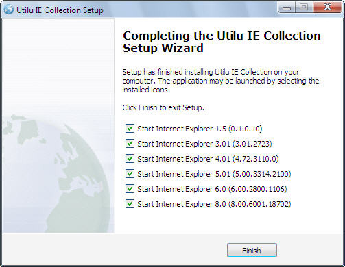 Screenshot 1 of Utilu Internet Explorer Collection