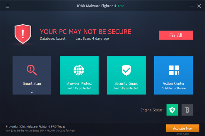 Screenshot 2 of IObit Malware Fighter