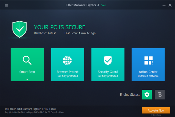 Screenshot 1 of IObit Malware Fighter