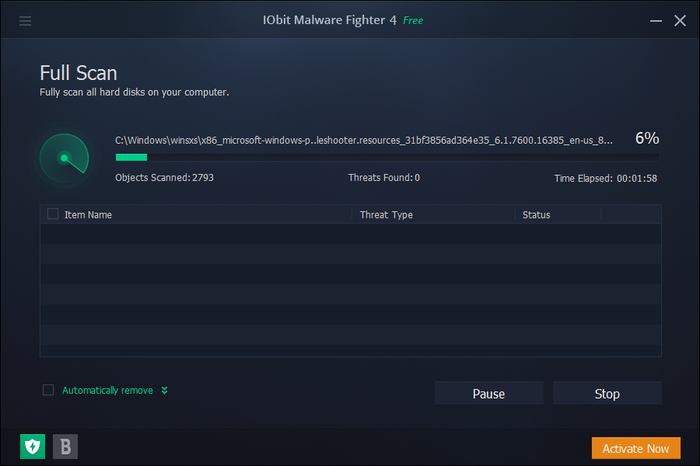 Screenshot 7 of IObit Malware Fighter