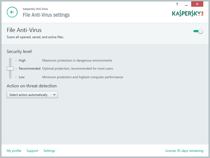 Screenshot 5 of Kaspersky Anti-Virus