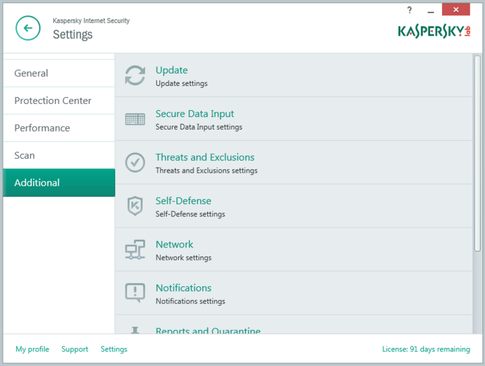 Screenshot 1 of Kaspersky Internet Security