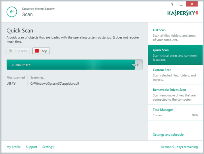 Screenshot 12 of Kaspersky Internet Security