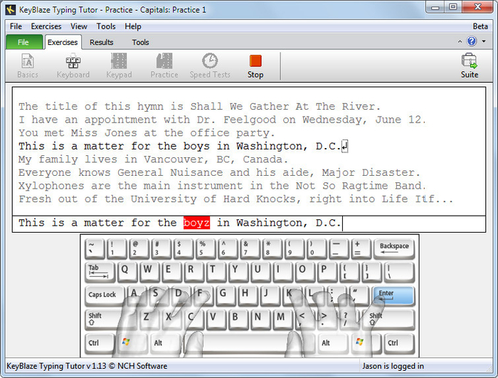 Screenshot 3 of KeyBlaze Free Typing Tutor
