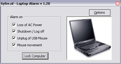 Screenshot 1 of Laptop Alarm