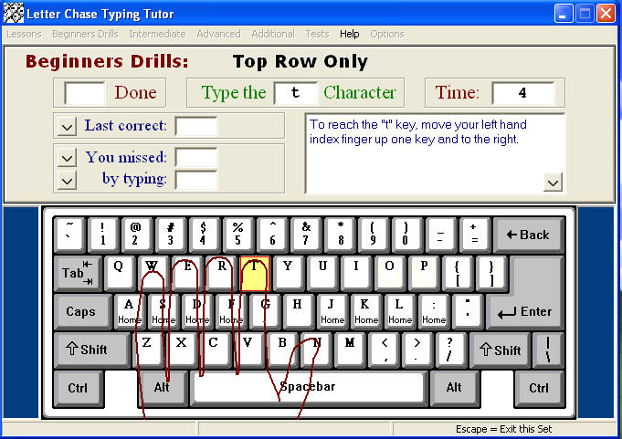 Download Letter Chase Typing Tutor free — NetworkIce com