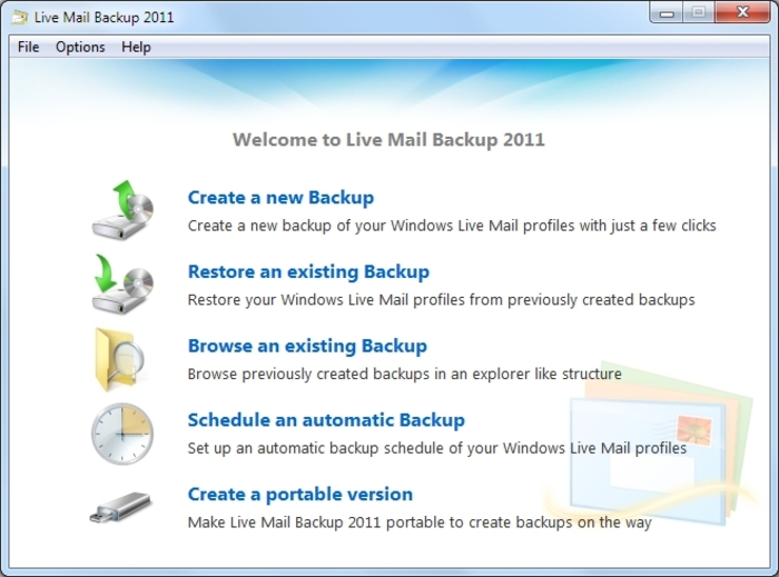 Screenshot 12 of Live Mail Backup 2012