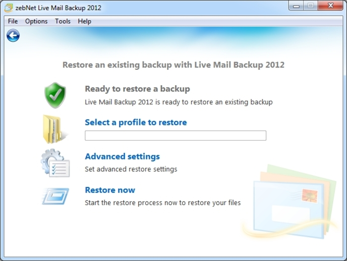 Screenshot 8 of Live Mail Backup 2012