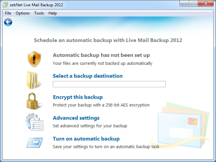 Screenshot 7 of Live Mail Backup 2012