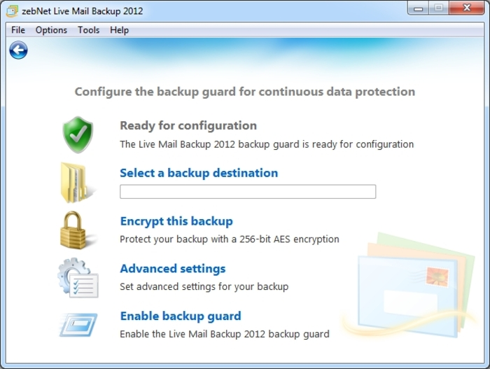 Screenshot 10 of Live Mail Backup 2012