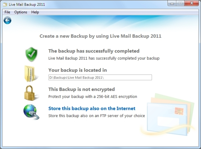 Screenshot 15 of Live Mail Backup 2012