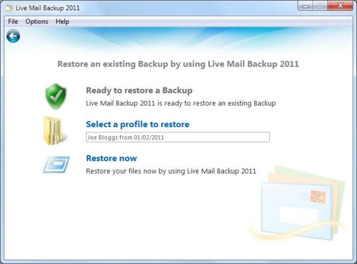 Screenshot 6 of Live Mail Backup 2012