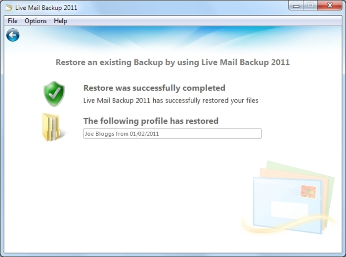 Screenshot 5 of Live Mail Backup 2012