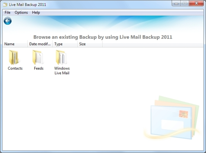Screenshot 9 of Live Mail Backup 2012