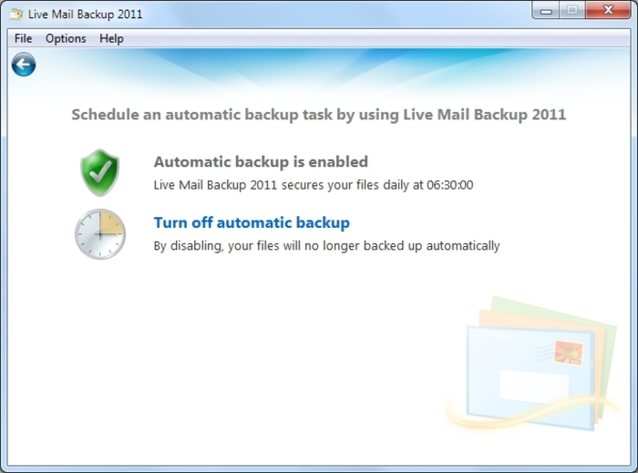 Screenshot 4 of Live Mail Backup 2012