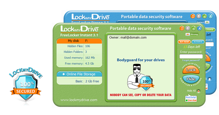 Screenshot 1 of Lockmydrive FreeLocker