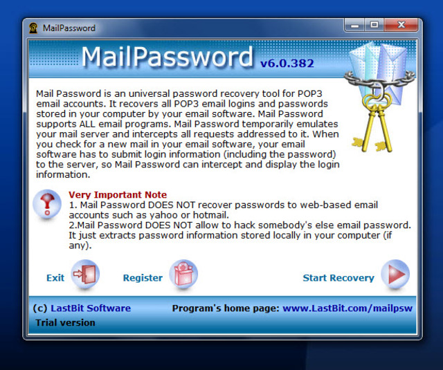 Screenshot 2 of MailPassword