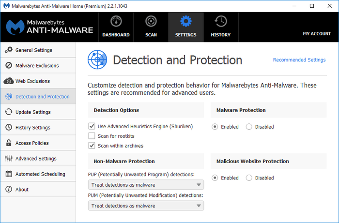 Screenshot 10 of Malwarebytes Anti-Malware