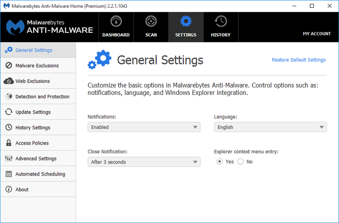 Screenshot 5 of Malwarebytes Anti-Malware