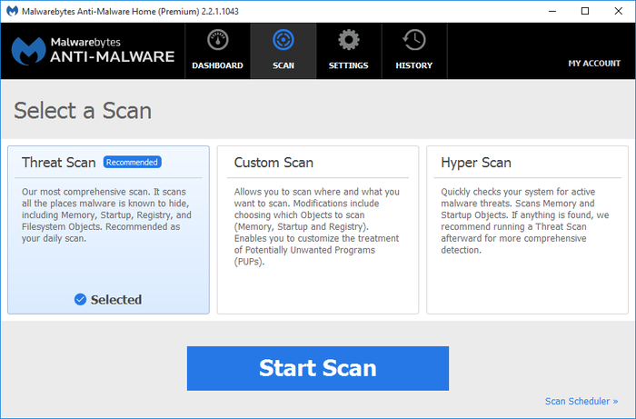 Screenshot 2 of Malwarebytes Anti-Malware