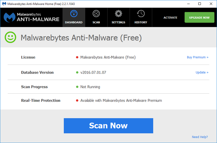 Screenshot 3 of Malwarebytes Anti-Malware