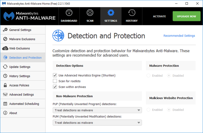 Screenshot 12 of Malwarebytes Anti-Malware