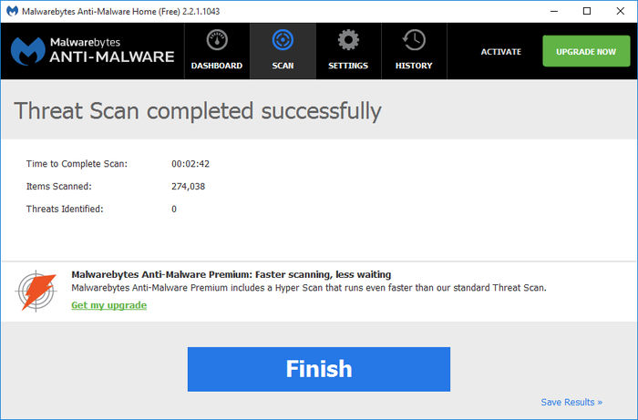 Screenshot 4 of Malwarebytes Anti-Malware
