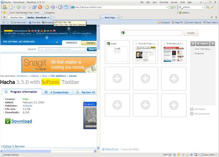 Screenshot 5 of Maxthon