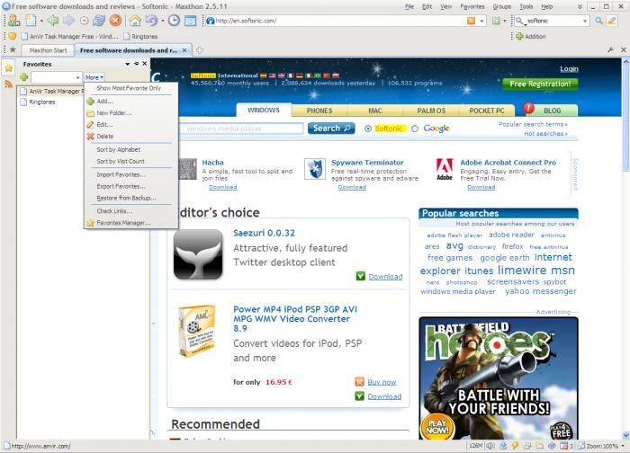 Screenshot 8 of Maxthon