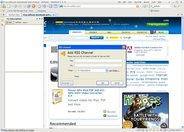 Screenshot 2 of Maxthon