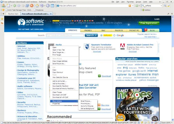 Screenshot 4 of Maxthon