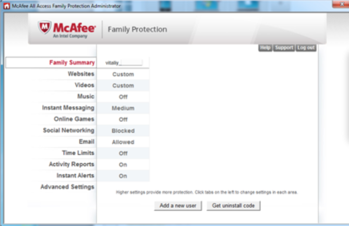 Screenshot 1 of McAfee All Access
