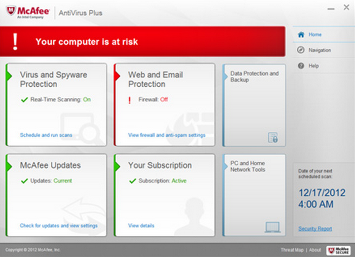 Mcafee internet security 180 days free trial download.