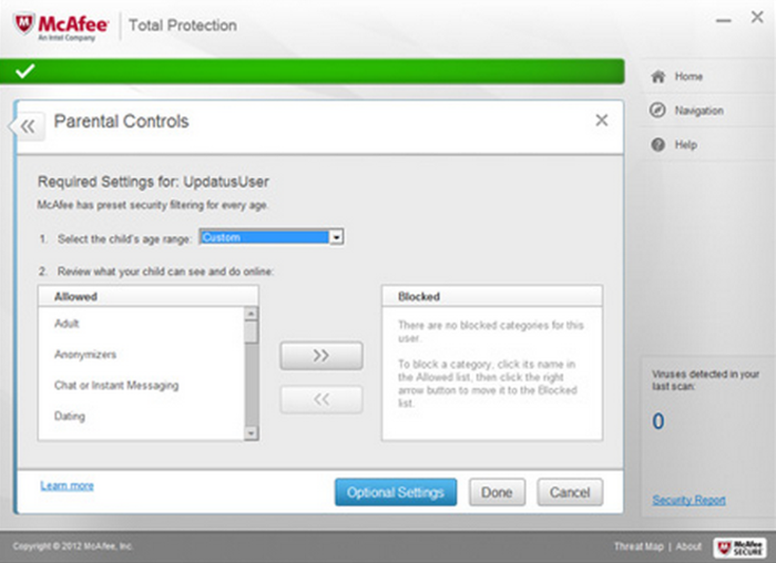 Screenshot 1 of McAfee Total Protection