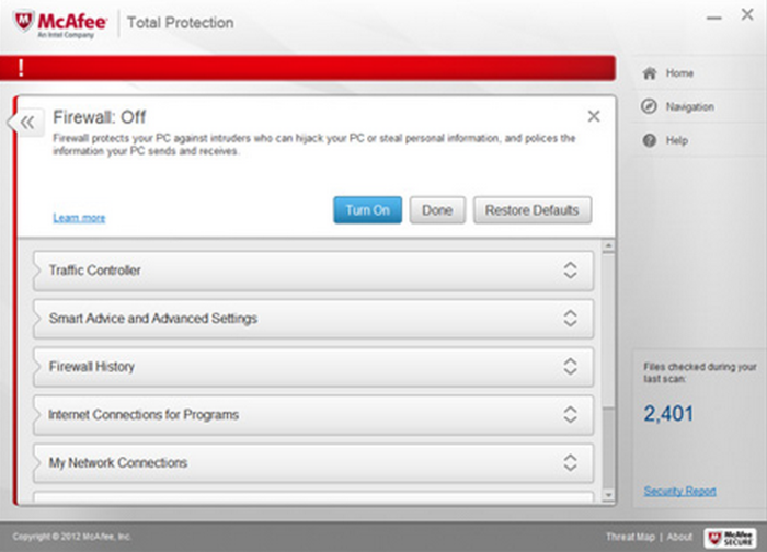 Screenshot 6 of McAfee Total Protection