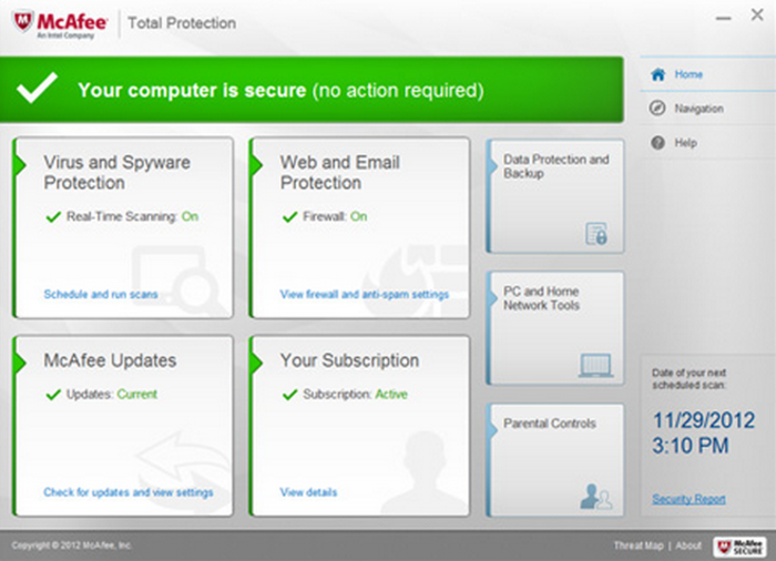 Screenshot 3 of McAfee Total Protection
