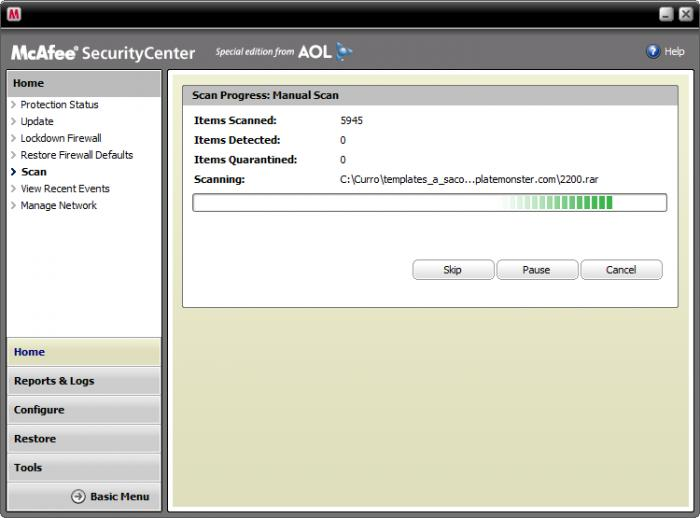 Mcafee Security Center 14.0 Download