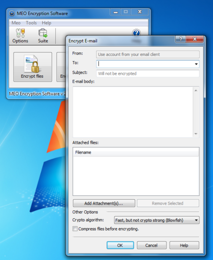 Screenshot 7 of MEO Free Encryption Software