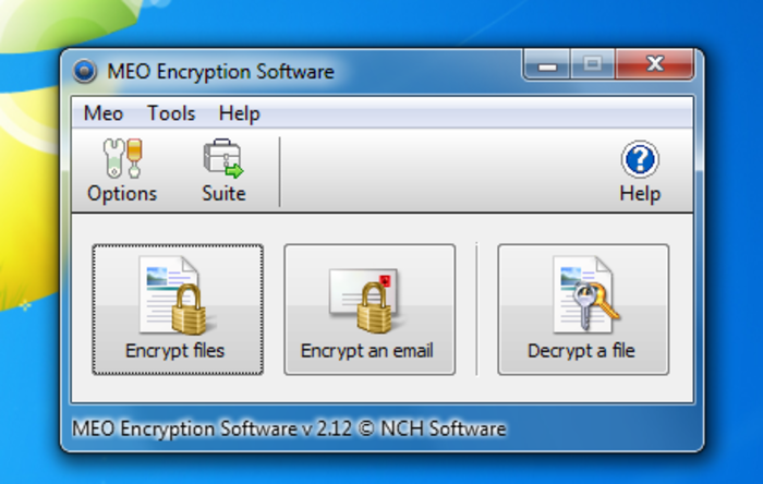 Screenshot 2 of MEO Free Encryption Software