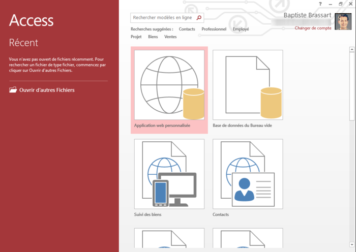 Screenshot 1 of Microsoft Access 2013