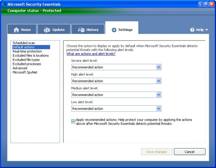 Screenshot 9 of Microsoft Security Essentials