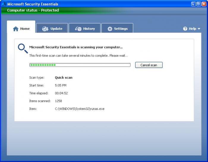 Screenshot 8 of Microsoft Security Essentials