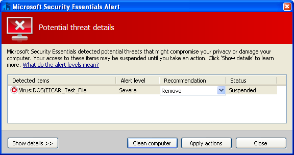 Screenshot 5 of Microsoft Security Essentials